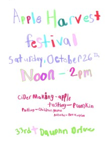 Apple fest flier 2013 - Kai n Mars